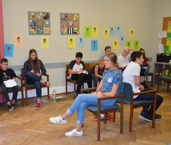 Schülerzeitung AG - Seminarfahrt Schülerrat_Villa Jühling Halle-Dölau [6.9.-8.9.2017] (2)