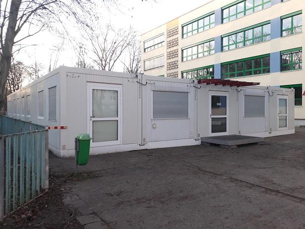 Unterricht im Container: Der Kampf des CWG umFachräume
